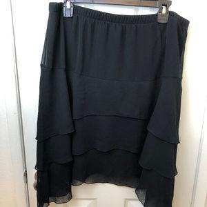 Torrid sheer black layered skirt. Size 1